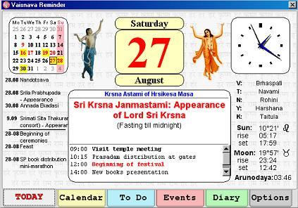 Vaishnava Reminder – Hare Krishna Calendar