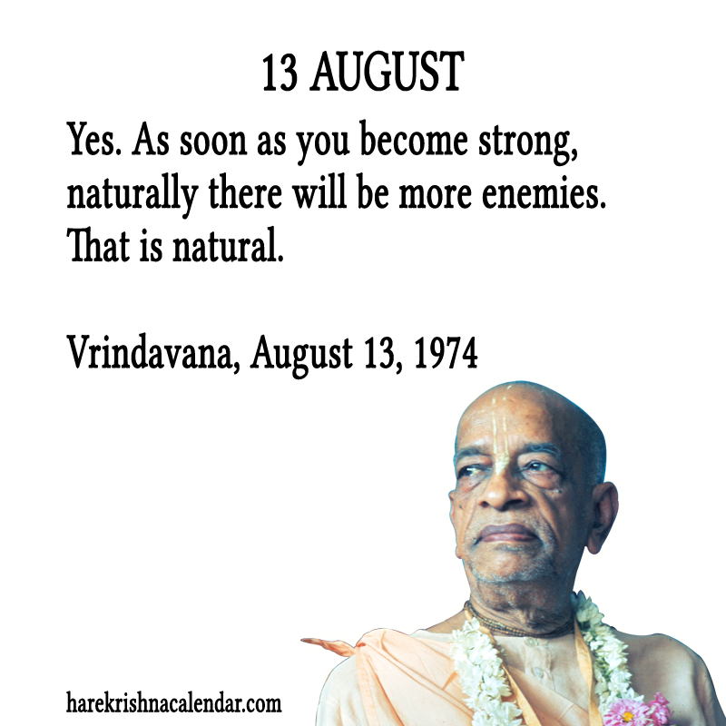 Calendar Quotes For February : Srila prabhupada s quotes in august hare krishna