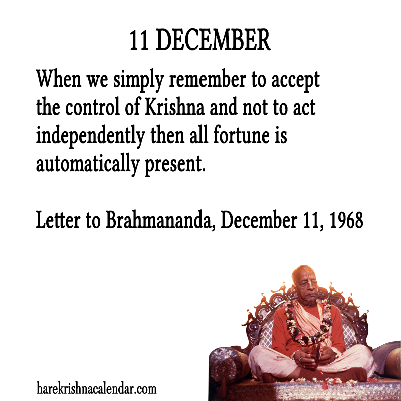 Srila Prabhupada Quotes For Month December 11