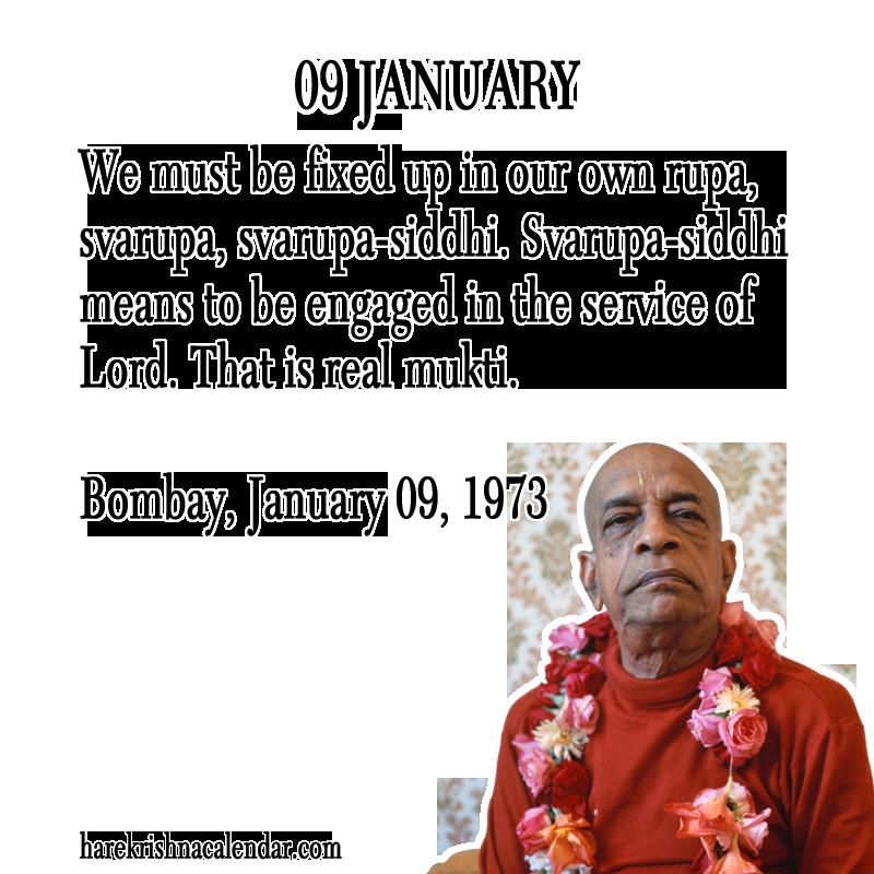 Srila Prabhupada S Quotes For 09 January Hare Krishna Calendar