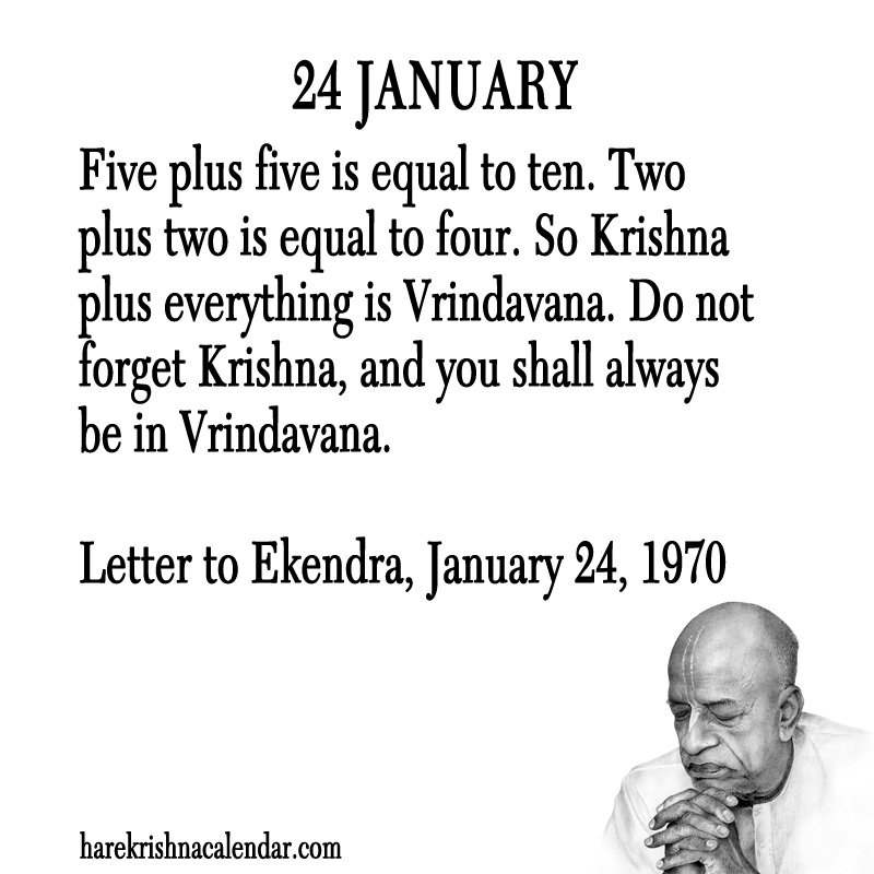 Quotes January Impressive Srila Prabhupada's Quotes In January  Hare Krishna Calendar