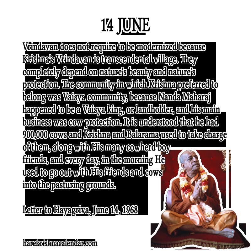 srila prabhupada s quotes in june hare krishna calendar