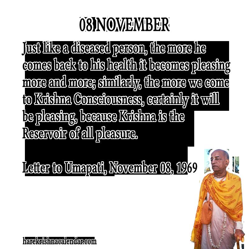 Srila Prabhupada's Quotes for 08 November | Hare Krishna Calendar