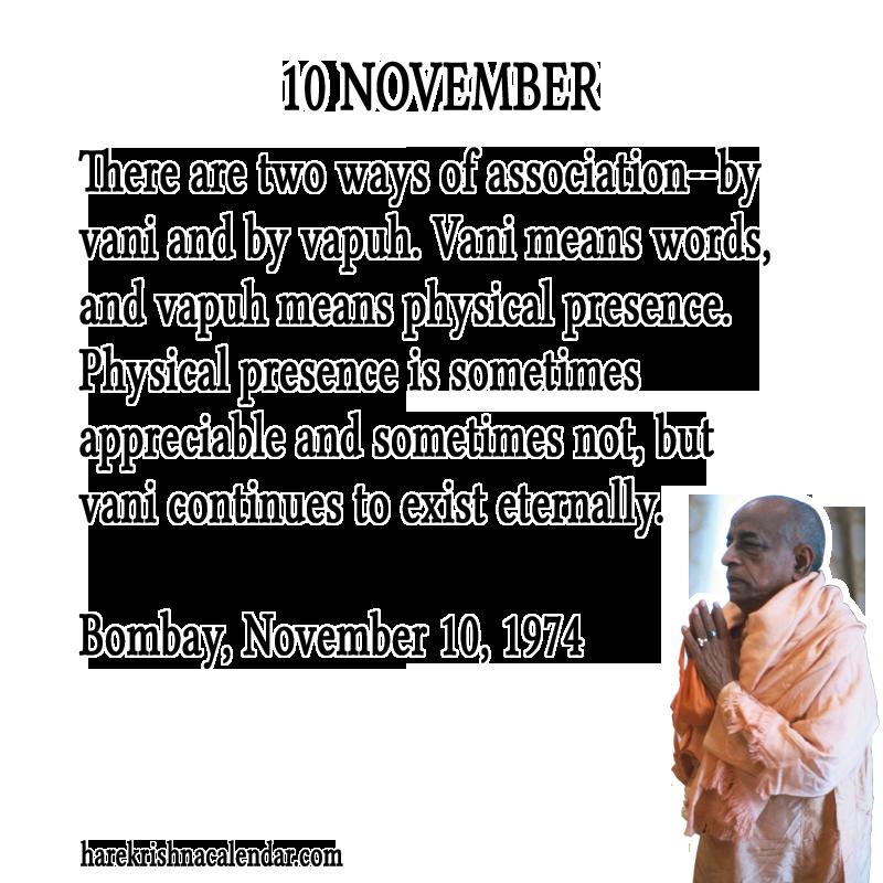 Srila Prabhupada's Quotes In November | Hare Krishna Calendar - Part 3