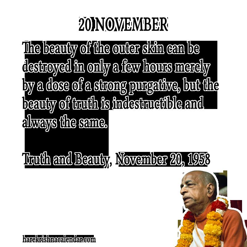 Srila Prabhupada's Quotes for 20 November | Hare Krishna Calendar