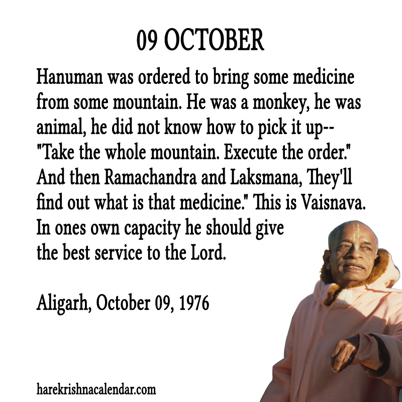 Srila Prabhupada Quotes For Month October 09